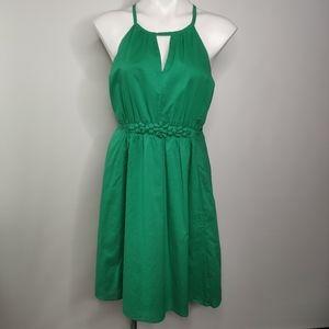 Unbranded Green Dress Fit N Flare Size Med Lined